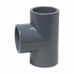 PVC-U T-Stück 50mm 90 Grad DIN 8063, PN16