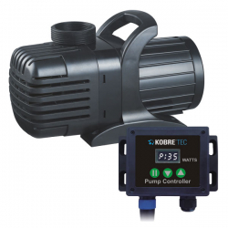 KOBRE®TEC FLOW CONTROL Pumpe 15000, S-Serie 19-135 Watt, Standsockel, für Schwerkraft Filter