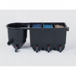 Reihenfilter 4-kammer, 8000 l/h, mit Bio Eingang 110mm, LxBxH 147x63x53cm