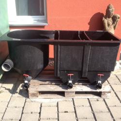 Reihenfilter 3-kammer, 10000 l/h, ohne  Bio Eingang 110mm, LxBxH 170x73x71cm