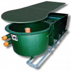 Reihenfilter 4-Kammer, 18'000 l/h, Bio & Deckel Eingang 2x110mm, LxBxH 350x134x97cm