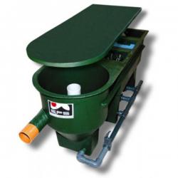 3-Kammer-Reihenvortex mit GFK-Deckel 6'000 L/h, 190x65x90mm inkl. Bio & Verrohrung