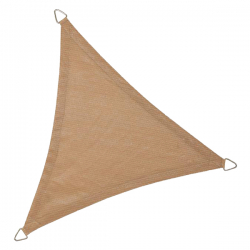 Sonnensegel Dreieck 3 Längen an 3,6m, Farbe Sand extra verstärkte Ecken mit Montageösen