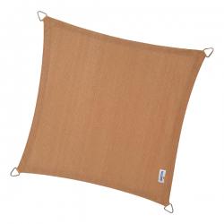 Sonnensegel Quadrat 4 Längen an 3,6m, Farbe Sand extra verstärkte Ecken mit Montageösen