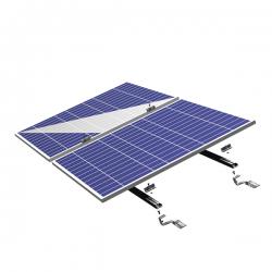 Solar Einspeiseanlage Dachmontage Pfannenziegel Befestigung 2 Module Breite 990 Höhe 40